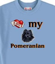 Pomeranian Dog T Shirt - Love My Pomeranian Men Women Adopt  A Cat