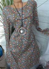 sheego Long Tunic Dress Sweat Dress Size 44 - 52 (371) NEW