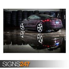 AUDI TT-RS en cereza negra (AA657) cartel de auto-arte cartel impresión A0 A1 A2 A3