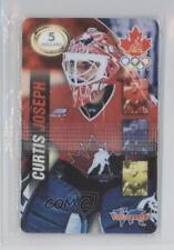 1998 Valu-Net Team Canada Prepaid Phone Cards CUJO Curtis Joseph (National Team)