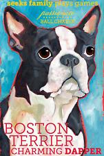 Boston Terrier - Dog Portrait - Fridge Magnet - Reproduction Oil Painting