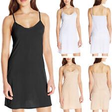 Ladies Plain Cling Resitant Underskirt Anti Static Petticoat Short Slip Black