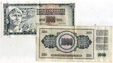 YOUGOSLAVIE  1000 dinara