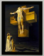 Salvador Dali Christ of St. Juan de la Cruz canvas print framed 6.8X8.8&10X13,6