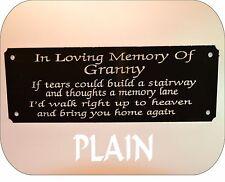 Personalizzata Memorial Bench targa segno Plain Design qualsiasi formulazione che si desidera 160X55