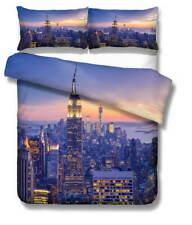 New York Cloud 3D Quilt Duvet Doona Cover Set Single Double Queen King Print