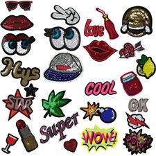 Bügelbild Aufnäherbild Patches Aufbügler Patch Aufnäher Sticker Setpreis Logo 10