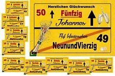 Schild Funny Bild 18 20 30 40 50 60 70 Geburtstag Deko Geschenk Design 46