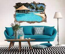 3D Blue Pool Sea View 52 Wall Murals Wall Stickers Decal breakthrough AJ WALL CA