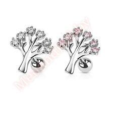 Gem Tree Tragus Cartilage Bar Ear Ring Stud Body Piercing Jewellery