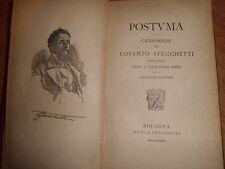 POSTUMA.  Canzoniere di Lorenzo STECCHETTI  -  1883
