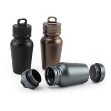 Aluminum Alloy Waterproof Survival Pill Capsule Case Bottle Tank Container