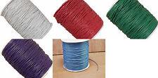 5m ou 10m Fil en Coton Ciré 1,5mm Couleur au choix Cordon cire attache tetine
