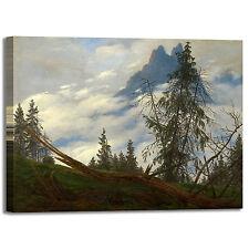 Caspar montagna con nuvole design quadro stampa tela dipinto telaio arredo casa