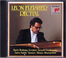 Leon FLEISHER: Takacs Saint-Saens Brahms Godowsky Saxton Blumenfeld Scriabin CD