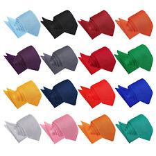 DQT Mens Slim Tie & Hanky Set Knit Knitted Plain Casual FREE Pocket Square