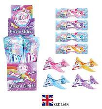 UNICORN FLYING GLIDERS Kids Birthday Party Bag Favors Pinata Filler Pony Toy UK