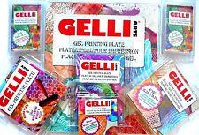 Gelli Arts Gell Placa de Impresión, monoprinting sin prensa Redondo, Cuadrado, 3x5,8x10