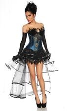 Sexy Burlesque VOLANT GONNA COSTUME di carnevale halloween rivestimento gotico
