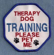 $$ SALE $$         THERAPY DOG TRAINING - PLEASE PET ME - service dog vest patch