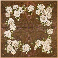 """Women's Vintage Flower&Paisley Print Square Scarfs Soft Boho Head Shawl 51""""*51"""""""