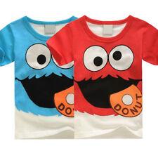ELMO Cartoon Baby Kinder Jungen Mädchen Kurzarm T-Shirt Freizeit Tops Tee Shirts