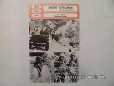 CARTE FICHE CINEMA 1951 BAIONNETTE AU CANON Richart Basehart Gene Evans