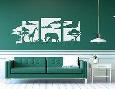 Wandtattoo Wohnzimmer Wandtatoo Afrika Tiere Elefant Giraffe Wandbild pkm130