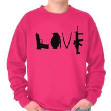 Love Pistol Grenade USA Shirt 2nd Amendment Gun America Cool Crewneck Sweatshirt