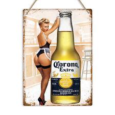 bar pub Corona Extra PIN UP GIRL Man Cave Cadeau Style Rétro Métal Signe