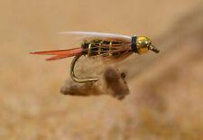 1 Doz Bead Head Prince Nymph Fishing Flies - Mustad Signature Fly Hooks