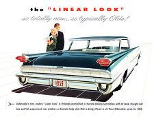 1959 Oldsmobile Linear Look Dealer Album Promotional Advertising Poster