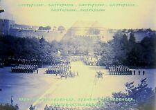 PLAQUE photographique négatif verre DEFILE MILITAIRE fin19ème (7) REVUE GENERAL