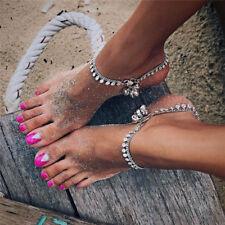 Bells Round Tassel Ankle Bracelet Foot Chain Jewelry Sandal Beach Anklet Gift SE