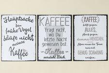 Schild Kaffee mit witzigem Spruch 40x30 cm (713630) Blechschild Dekoschild