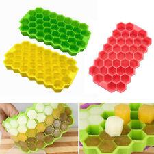 Bar Cream Reusable Soft Bottom Silicone Ice Cube Mold Honeycomb Shap Trays