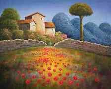 Toscana II - Keilrahmenbild auf Leinwand