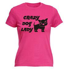 Crazy Dog Lady WOMENS T-SHIRT tee birthday cute puppy mum auntie grandma funny