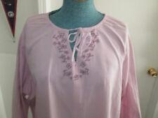 Womens shirt Peasant Lavendar Purple Plus Size XL 0x 1x 2x 3x NEW Cotton