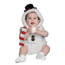 Bebé Disfraz de Hombre de Nieve de Peluche Set Elaborado Vestido
