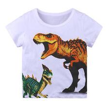 Boys T-Shirt Dinosaur Age 12 18 24 Mths 3 4 Yrs Kids Print T-Shirts Top Clothes