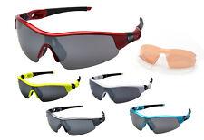 Ravs Sonnenbrille Radbrille Triathlonbrille Sportbrille Fahrradbrille 3 Gläser!