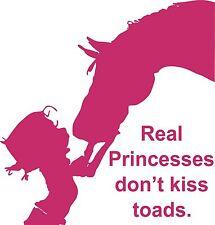 Girl Cowgirl Kiss Horse Animal Princess Car Truck Window Vinyl Decal Sticker