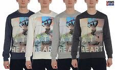 DL PROJECT Skate SINGE hommes graphique Pull , blanc/gris / charbon.