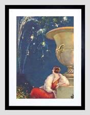 Dipinto Donna FUOCHI D'artificio Fontana Tito Corbella Framed Art Print b12x7336