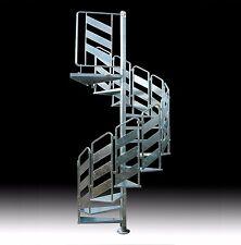 "SPIRAL STAIRCASE mod. ""LOKI"" - HOT DIP GALVANIZED STEEL - (for outdoor) - AUS"