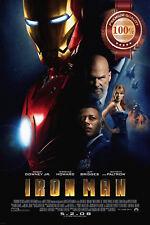NEW IRONMAN 1 ONE IRON MAN FIRST FILM MOVIE ORIGINAL CINEMA PRINT PREMIUM POSTER