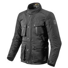 Rev'it! Jackson Rétro Veste Moto Textile Noir REV It Revit Toutes Tailles