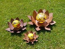 Edelrost Glasseerose gelb Blüte Rost Deko Schale Edelrost Metall Design Garten