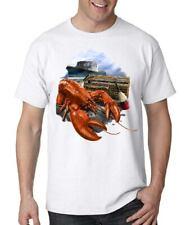 Lobster T-shirt Maine Fishing Boat Ocean